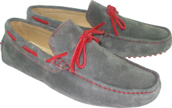CALYPSO II GREY/RED SUEDE LEATHER