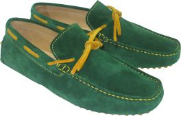 CALYPSO II GREEN/MUSTARD SUEDE LEATHER