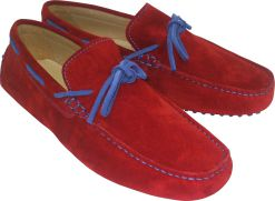CALYPSO II RED/BLUE SUEDE LEATHER