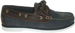 SKIPPER NAVY NUBUCK LEATHER / BROWN PULL UP LEATHER