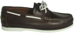 SKIPPER DARK BROWN/WHITE PULL UP LEATHER